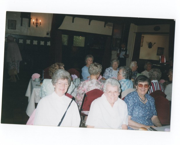 The Ladies Fellowship at one of their meals